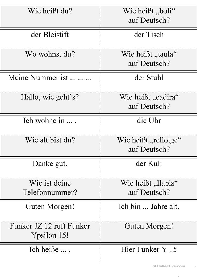 Deutsch dialoge kennenlernen