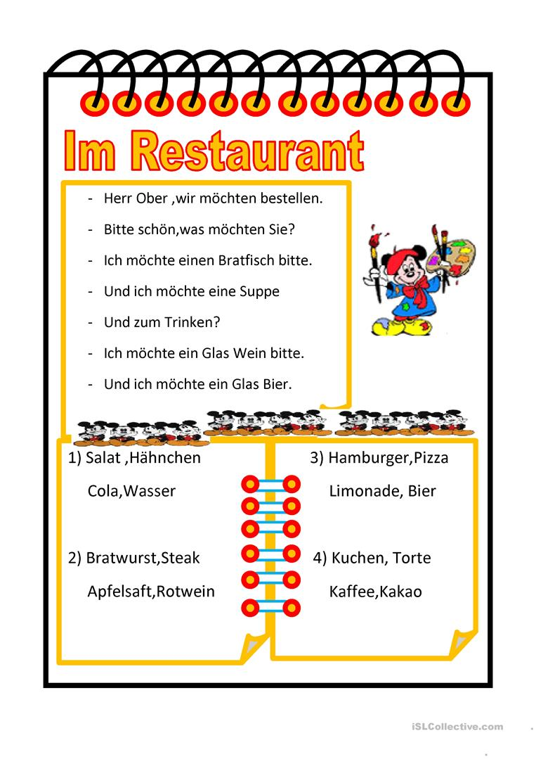 Dinner Auf Deutsch