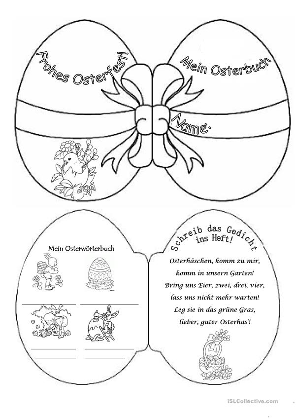 Osterbuch on free worksheets for kindergarten s