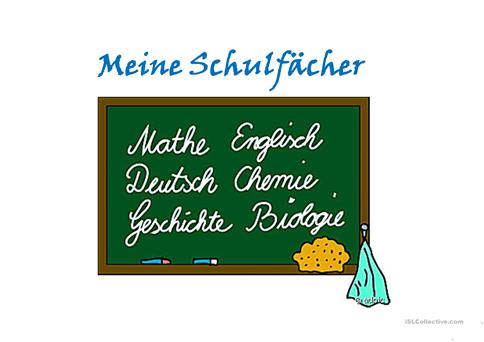 Schulfächer Arbeitsblatt - Free ESL projectable worksheets made by ...