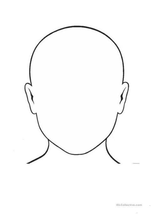 Face Outline Coloring Page