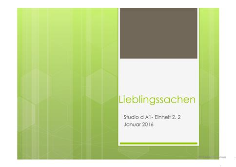 Lieblingssachen Arbeitsblatt - Free ESL projectable worksheets made ...